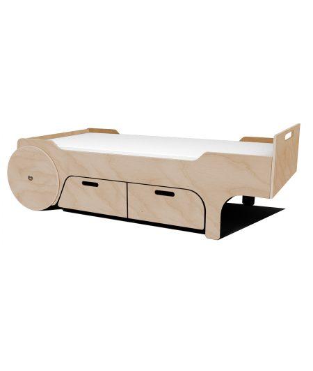 UNI - łóżko z szufladami naturalny